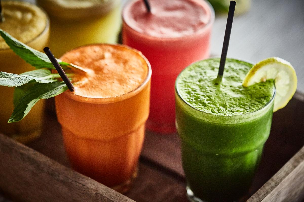 award winning food photography of juices